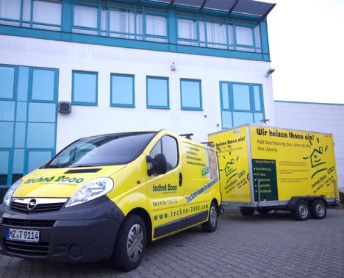 Anlieferung und Inbetriebnahme der mobilen Heizstationen durch unser Fachpersonal - schnell und routiniert. Anlieferung und Inbetriebnahme der mobilen Heizstationen durch unser Fachpersonal - schnell und routiniert.